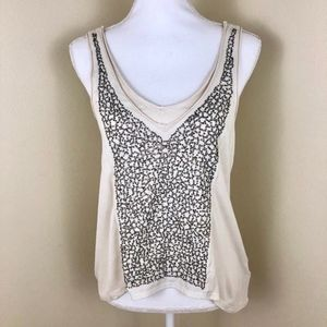 UO Silence & Noise Sequin Embroidered Tank Top